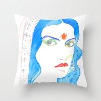 bride Throw Pillows featuring Bride by Rashmi Dagwar