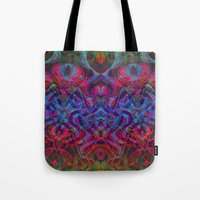 demon Tote Bags featuring Demon by GypsYonic
