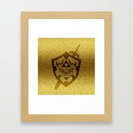 zelda shield gold Framed Art Print