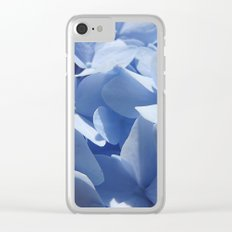 Blue hydrangea in LOVE- Flower floral Clear iPhone Case
