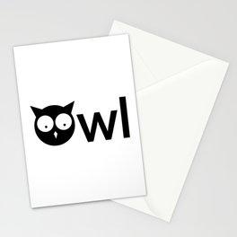 Owl creative design Stationery Cards