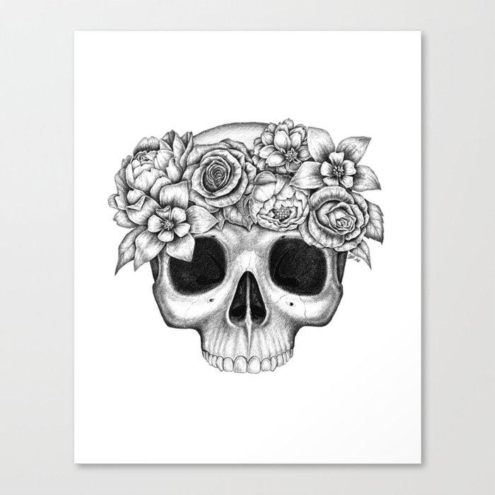 Flowerskull Canvas Print