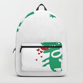 Valentine's Day Rawr Means I Love You Dinosaur Valentine Love Gift Backpack