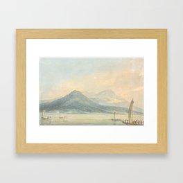 "J.M.W. Turner ""From the Isola Borromena, Lago Maggiore"" Framed Art Print"
