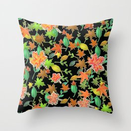Herbstlaub colorful Throw Pillow