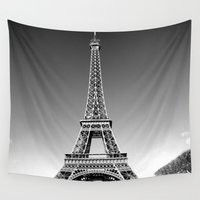 eiffel Wall Tapestries featuring eiffel by Michelle Loidl