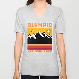 Olympic National Park Washington' Souvenir Vintage Mountain Unisex V-Neck