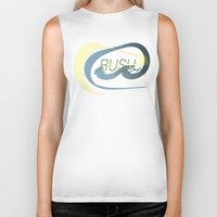 rush Biker Tanks featuring Rush  by Sammy Cee
