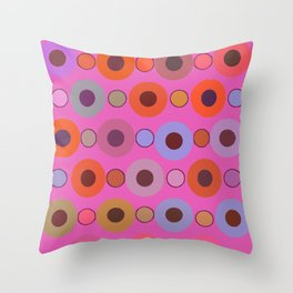 Abstract circle color print Throw Pillow