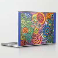 community Laptop & iPad Skins featuring Community Garden by Nita Bond