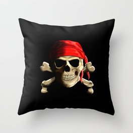 The Jolly Roger Throw Pillow