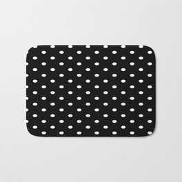Black & White Polka Dots Bath Mat