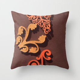WOOD FILIGREE Throw Pillow