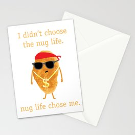 Funny Nugget Shirt, Nug Life, Chicken Nugget Tshirt Stationery Cards