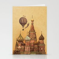 moscow Stationery Cards featuring Trip to Moscow by Terry Fan
