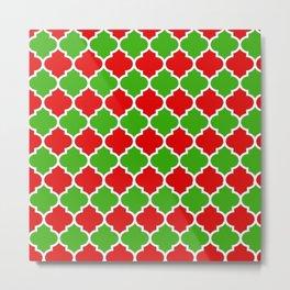 Christmas Domes - Red and Green Domes perfect for Christmas Home Decor Metal Print