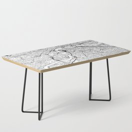 London White Map Coffee Table