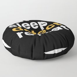 Eat Sleep Detect Repeat Metal Detector Floor Pillow