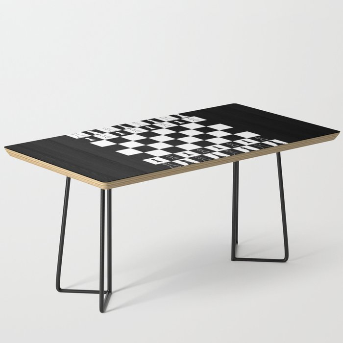 Chess Board Layout Coffee Table By Homestead