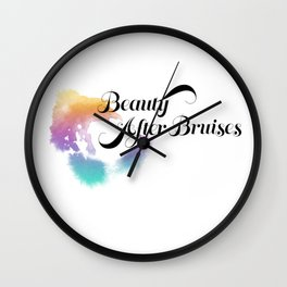 Beauty After Bruises (Black) Wall Clock