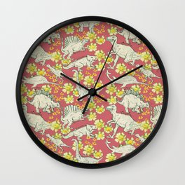 Dinoflowers Wall Clock