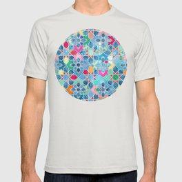 Pretty Pastel Moroccan Tile Mosaic Pattern T-shirt
