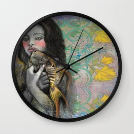One wish Goldfish Wall Clock