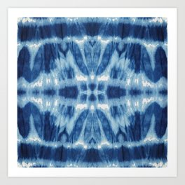 Tie Dye Blues Twos Art Print
