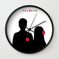 naruto Wall Clocks featuring He ♥ She by RaJess