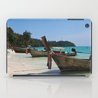 thailand iPad Cases featuring Thailand Boat by Serena Jones Photography