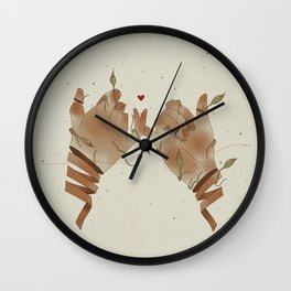 Red String of fate Wall Clock