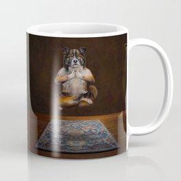 Meditating Dog Coffee Mug