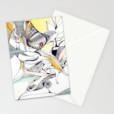 Fly in the crowded sky Stationery Cards
