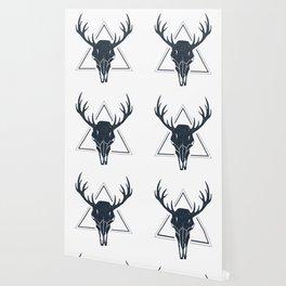 Skull Of A Deer. Geometric Style Wallpaper