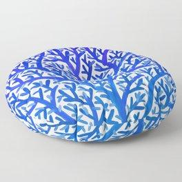 Fan Coral – Blue Ombré Floor Pillow