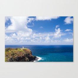 Kilauea Lighthouse overlooking the Pacific Ocean in Kauai, Hawaii Canvas Print