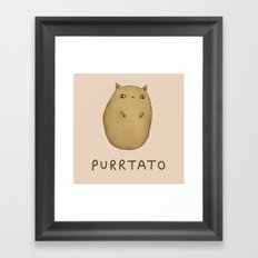 Purrtato Framed Art Print