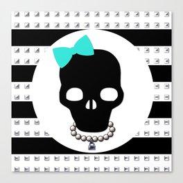 Studded Skull Tiffany & Co Hair Bow Canvas Print