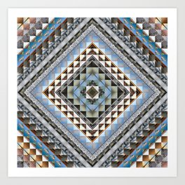 Boundaries (Manmade) - Square cut Art Print