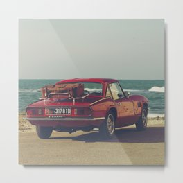 Triumph Spitfire by the sea, fine art photo, british car, sports car, classic car, supercar Metal Print