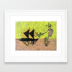 Hippocampus Framed Art Print