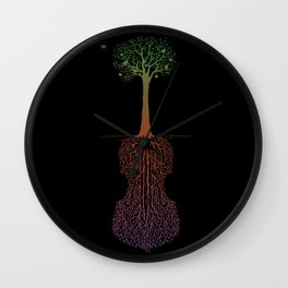 Rooted Sound IV Wall Clock