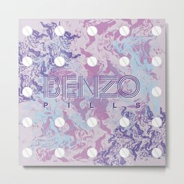Benzo Pills Metal Print