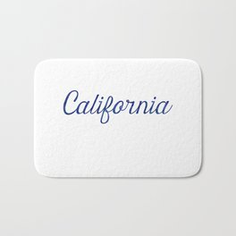 California Script Watercolor Bath Mat