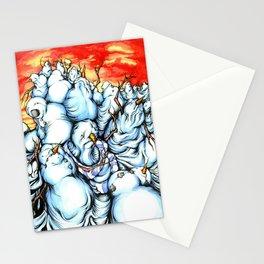 Snowman Apocalypse Stationery Cards