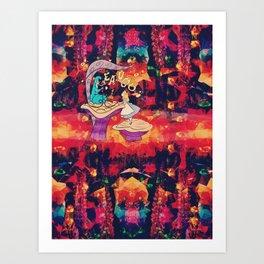 Alice in where-tf land (alt) Art Print