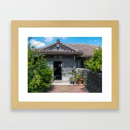 Traditional house in Okinawa Framed Art Print