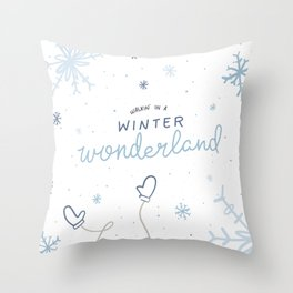 Walkin' In A Winter Wonderland Throw Pillow