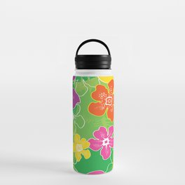 Hawaiian inspired tropical florals Water Bottle