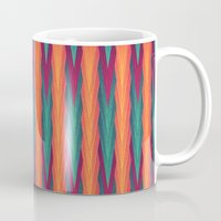 knitting Mugs featuring Knitting Flames by VessDSign